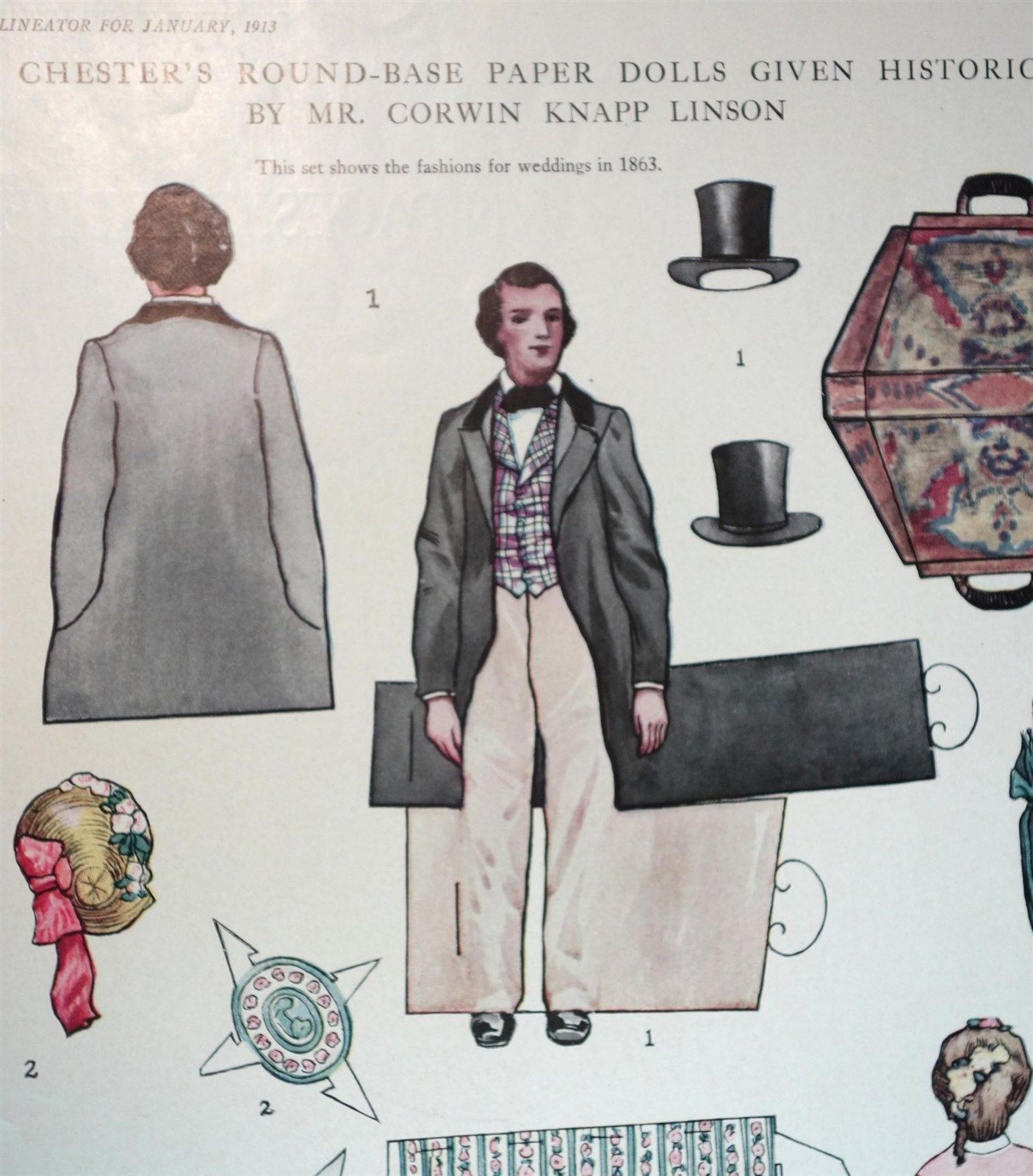 Details About Magazine Paper Doll Carolyn Chester S