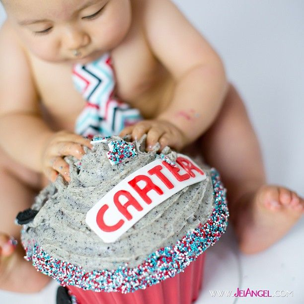 Carter's Giant Cupcake (Cake Smash)