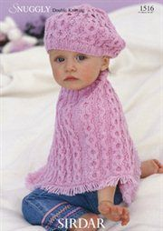 Vintage Knit Baby Shoulderette Poncho Sweater Pattern ...