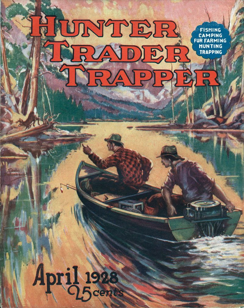 Old Hunter Trader Trapper Magazine covers make for great lodge and ...