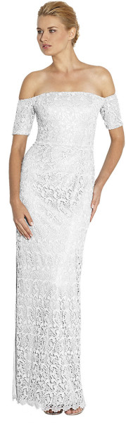 Laundry By Shelli Segal Metallic Lace Offtheshoulder Gown - Lyst     jaglady