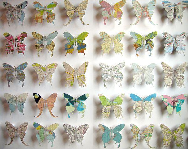 Map Butterflies Crafts Diy Butterfly Paper Crafts