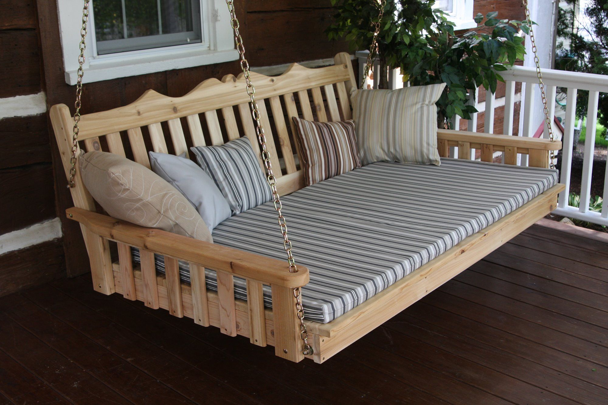 6 Royal English porch swing bed Amish made in the USA