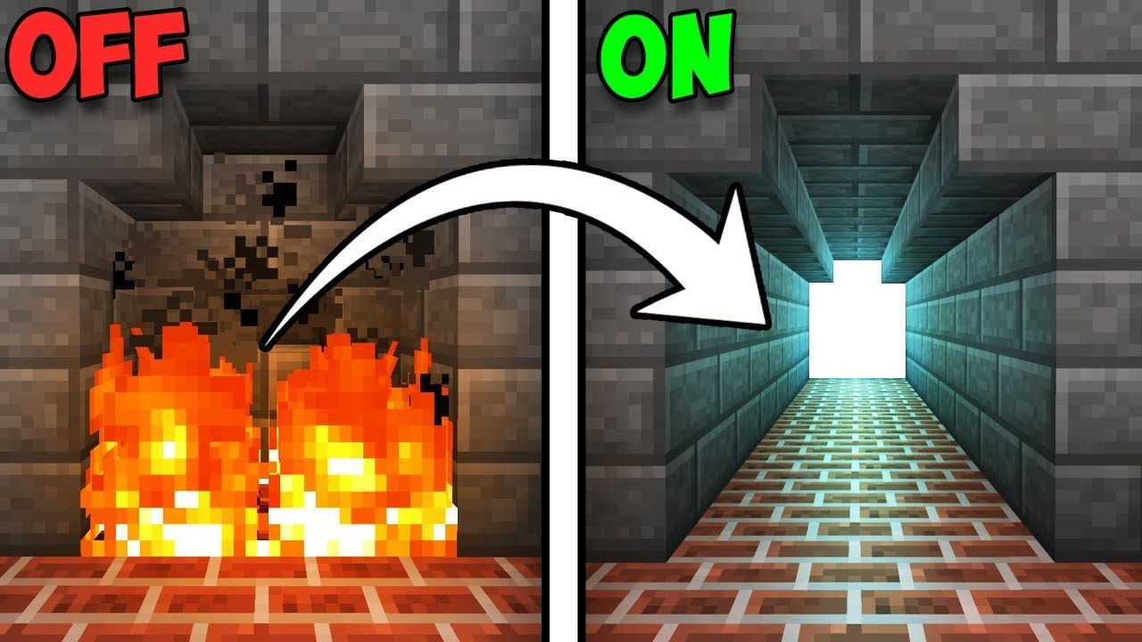 Fully Hidden Fireplace Entrance Minecraft Tutorial YouTube - Minecraft redstone hauser