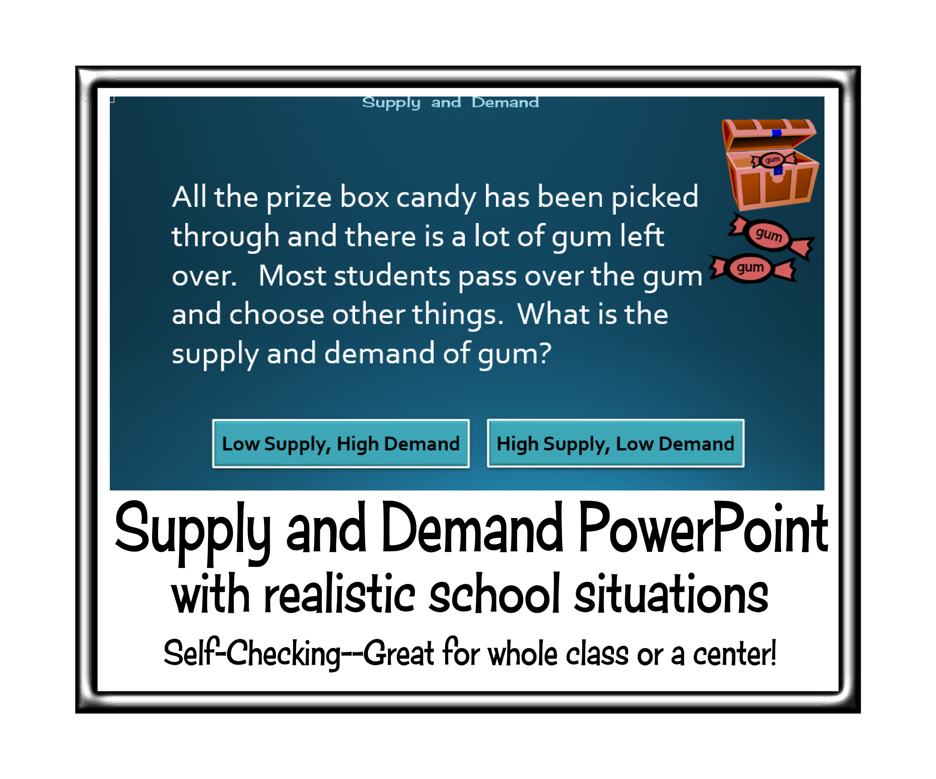 Supply And Demand Interactive Powerpoint With Realistic