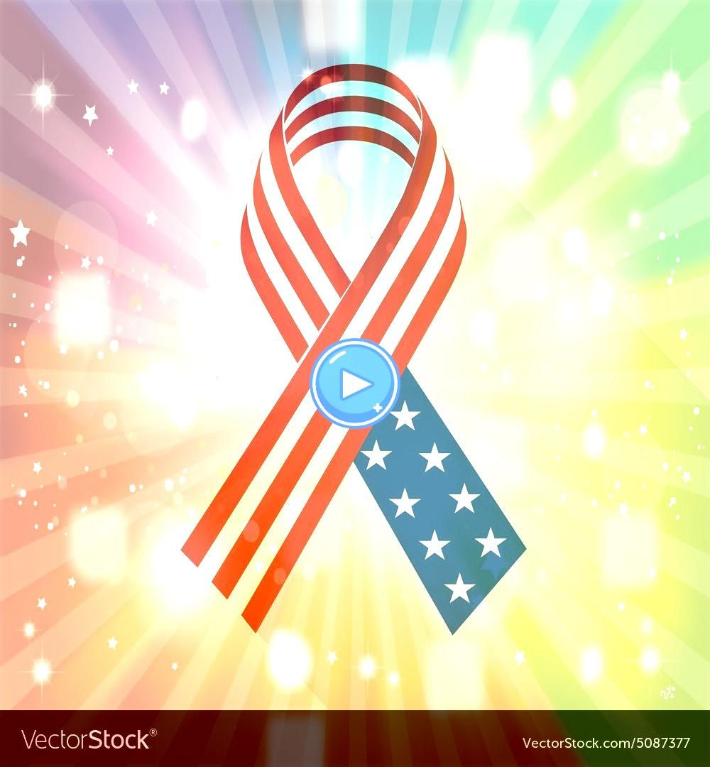 Ribbon with USA Flag For Memorial Day Vector Image Creative Ribbon with USA Flag For Memorial Day Vector Image  Ross frame  premium image by for premium image seamless oc...