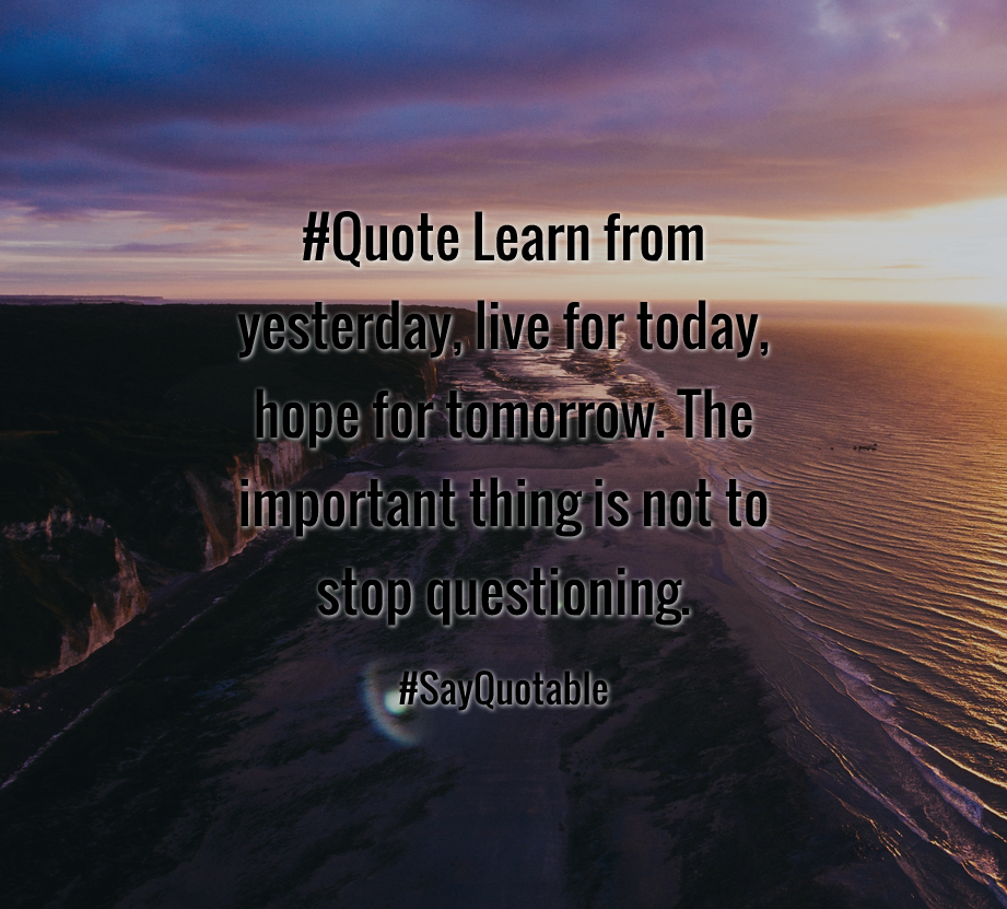 Live For Today Quotes Impressive Quotes About #quote Learn From Yesterday Live For Today Hope For . Review