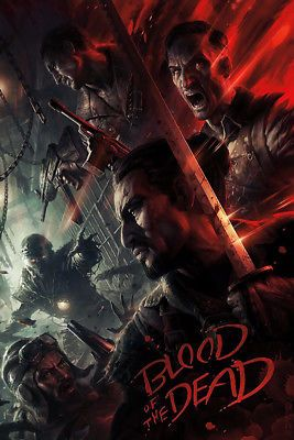 Call Of Duty Black Ops 4 Zombies Blood Of The Dead Poster
