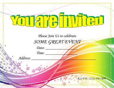 Multi-purpose invitation template - Free Invitation Template by ...