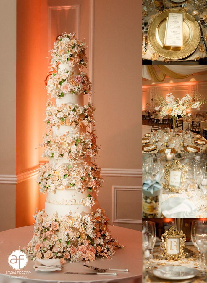 Luxury Wedding Cake Las Vegas Jewish Temple Beth Sholom Cream Ivory