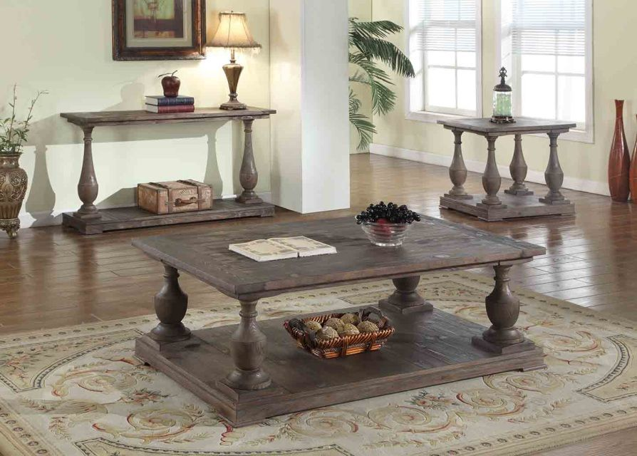 Fw138 Anthropologie Signature Rustic Coffee Table Sets