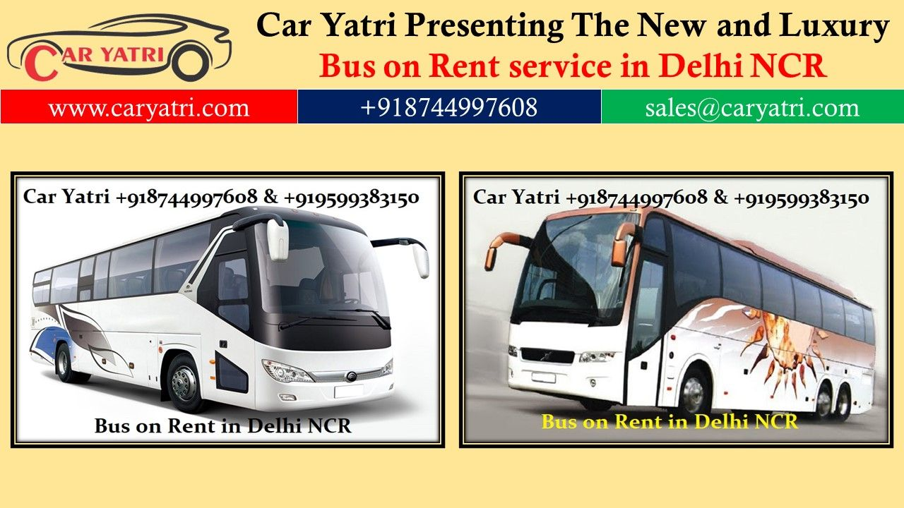 Bus on Hire in Gurgaon in 2020 Bus, Hire services, Rent