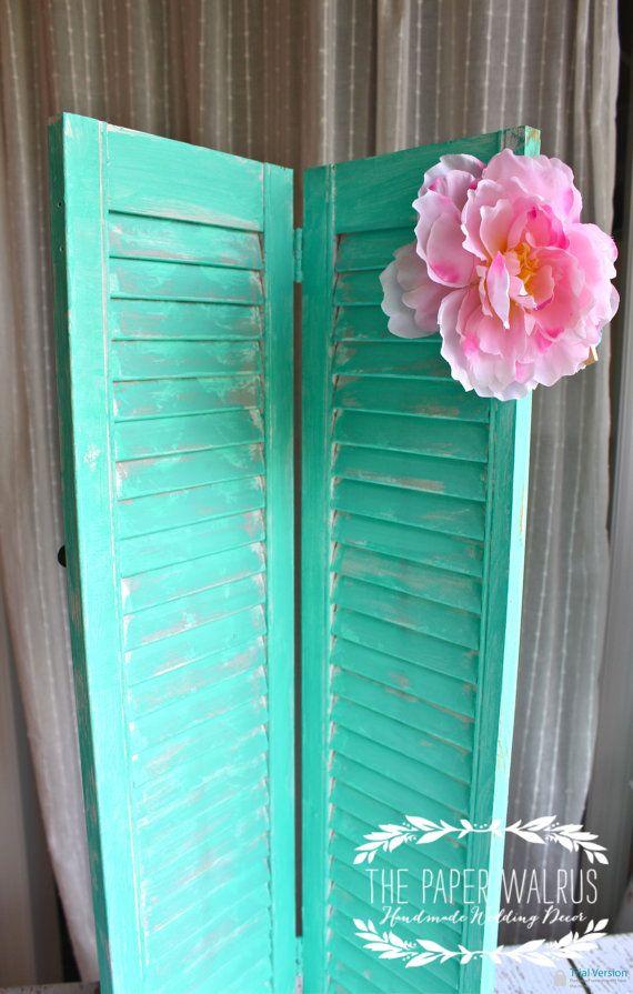 Vintage Wooden Shutter Wedding Decor / Home Decor