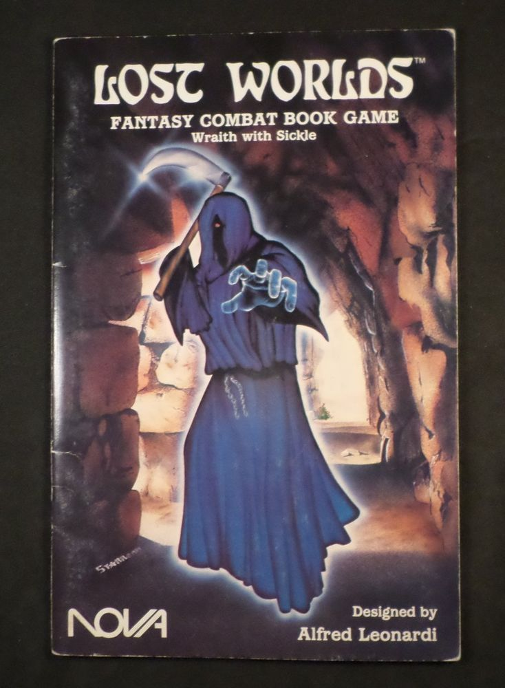 Lost Worlds Fantasy Combat Book Game Wraith With Sickle 1009