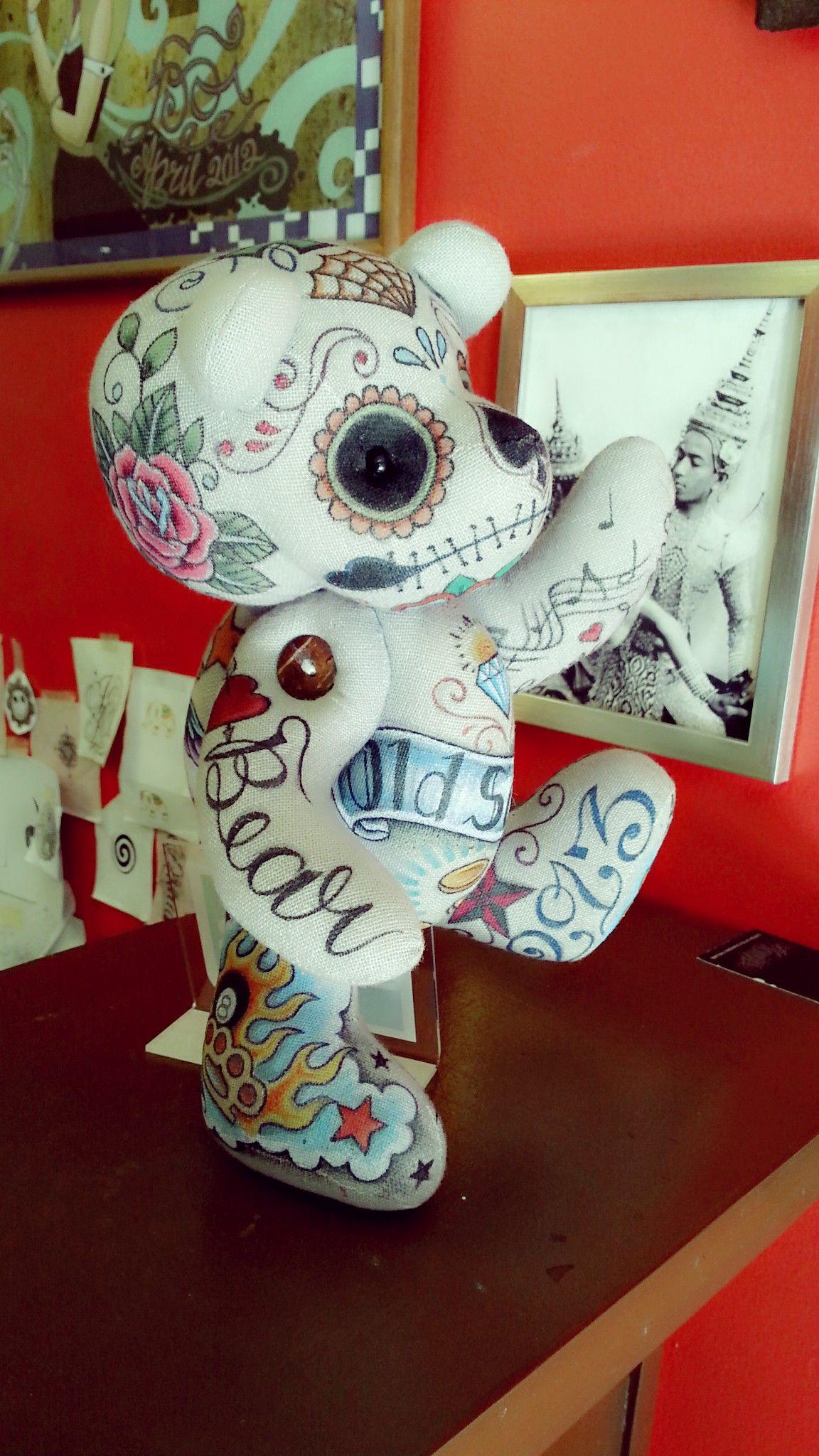 Tattoo Doll by Fhai Lee Tattoonart # painting tattoo on the doll # Mornzter Tattoo Studio # Chiangmai # Thailand