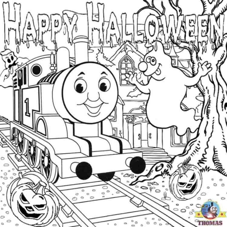 thomas the train halloween worksheets for kids printable