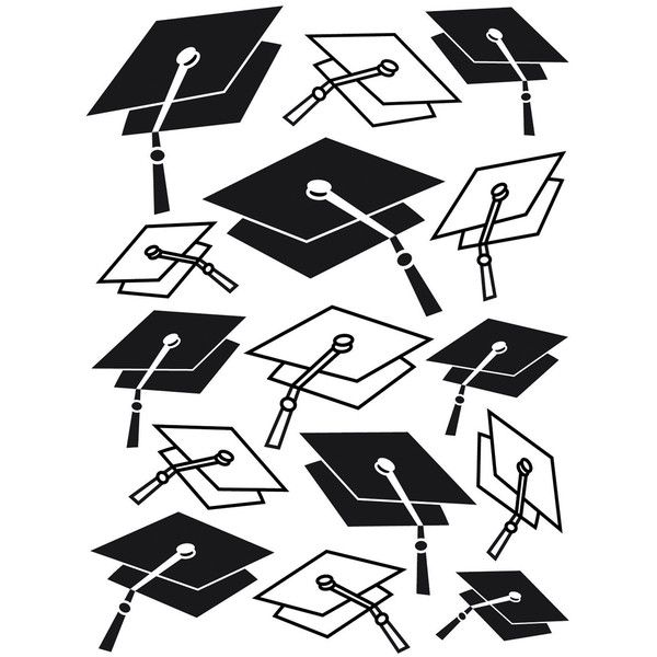 Darice Embossing Folder Graduation Hat Background (18 AED) ❤ liked on Polyvore featuring backgrounds