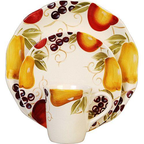Fruit Dinnerware Sets Better Homes and Gardens Bella Fruit 16