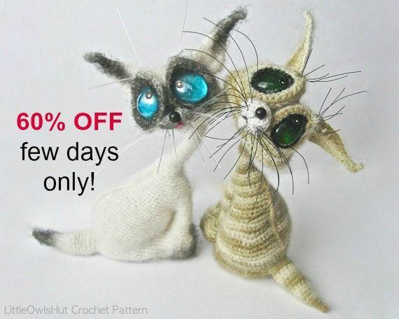 010 Cat Siam toy with wire frame - Amigurumi Crochet Pattern PDF ...