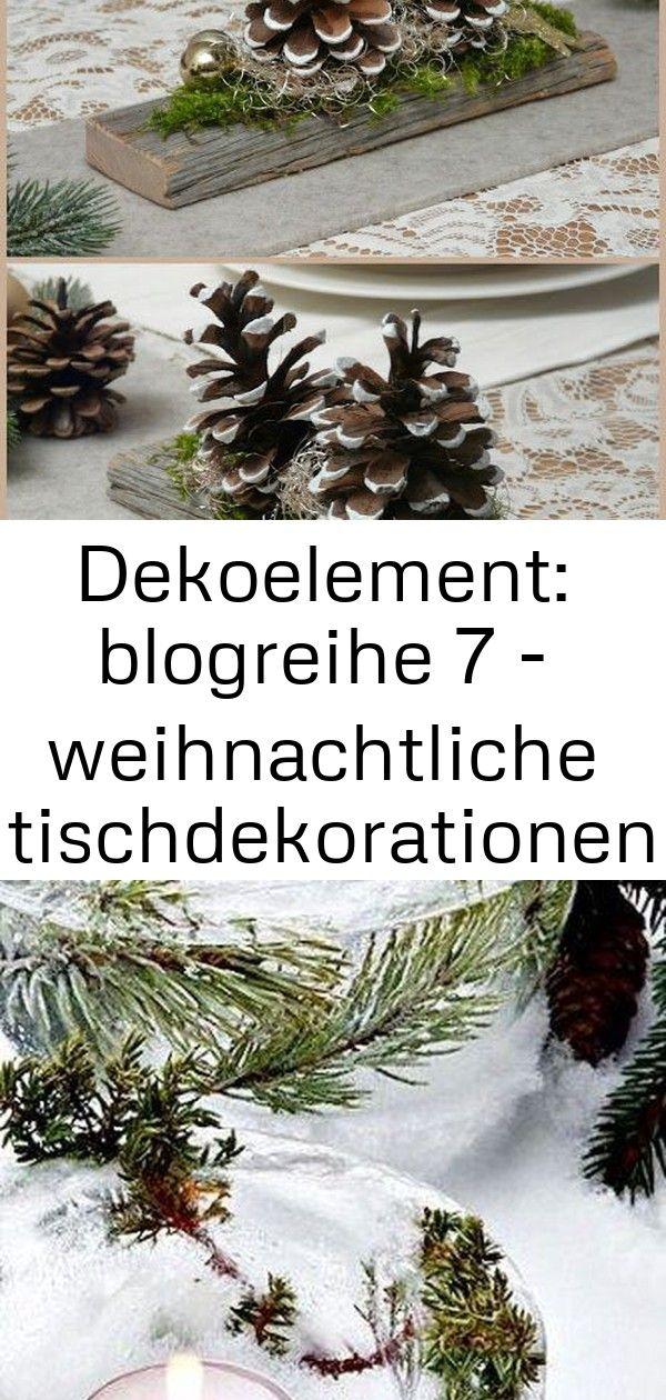 Dekoelement: blogreihe 7 - weihnachtliche tischdekorationen 7 #weihnachtlichetischdekoration
