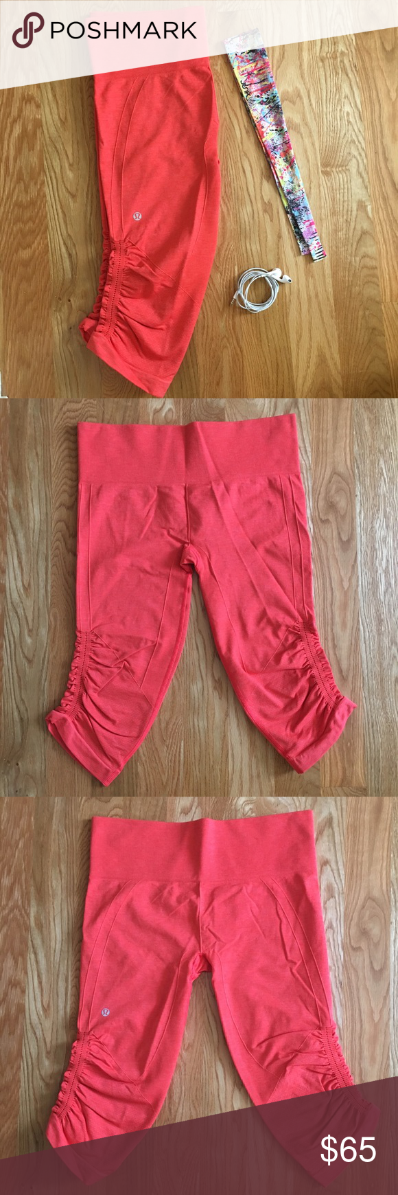Ebb and flow lululemon cropped yoga pants Super comfortable and cute. Perfect for running. They are in great condition because they have only been worn a few times (my mom wore her align yoga pants more). lululemon athletica Pants Leggings