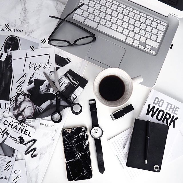 Monochrome Workspace Flatlay