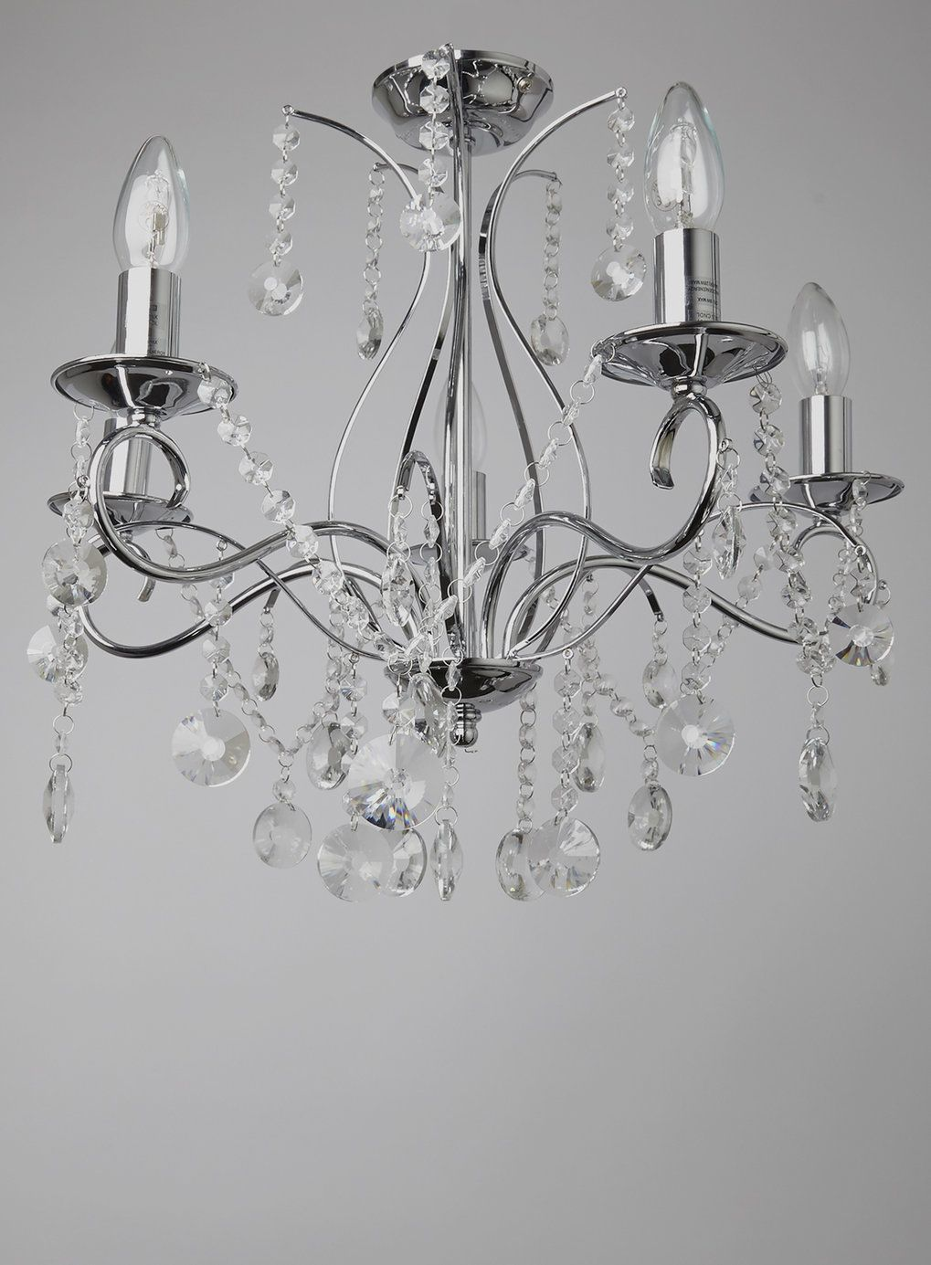 Chrome connie 5 light chandelier bhs bathrooms pinterest bhs chrome connie 5 light chandelier bhs arubaitofo Image collections