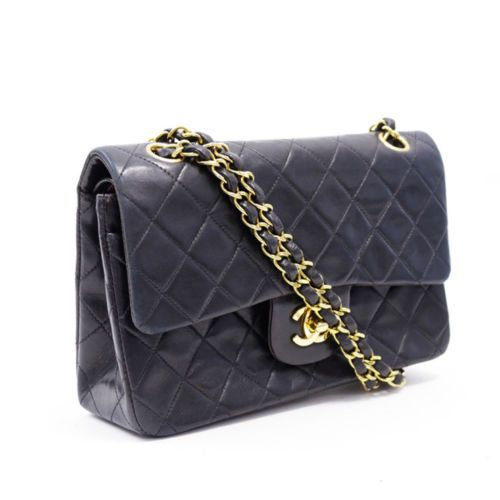 595eff92ca96 Auth CHANEL Quilted Matelasse 23 Lambskin Double Chain Flap Shoulder Bag  A01113