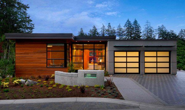 20 Contemporary Attached Garage Design | Garage design, Contemporary ...