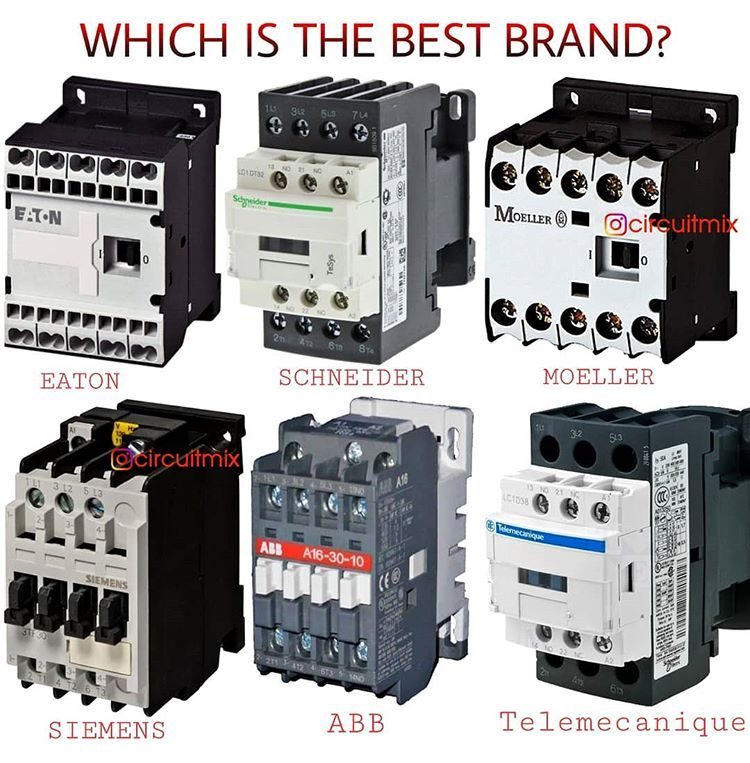 Circuitmix On Instagram Which Is The Best Contactor Brand Among These Tag Your Friends Sav In 2020 Electrical Wiring Electrical Projects Home Electrical Wiring