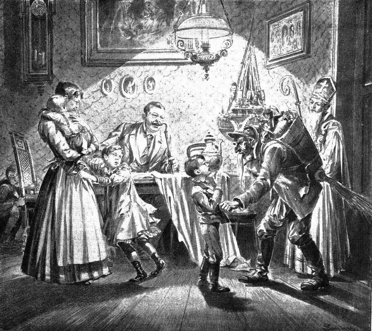 Til december 5th is krampusnacht or krampus night when