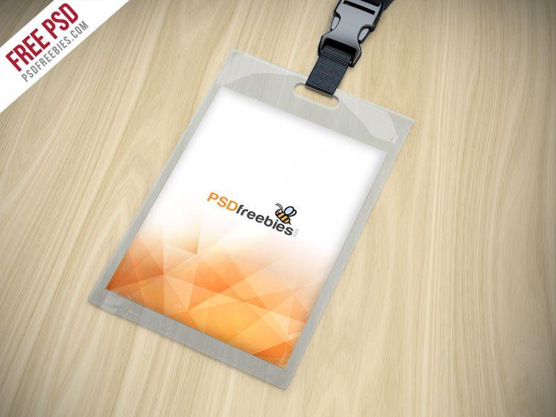 Identity Card Holder Mockup Free PSD Mockup, Free photoshop and - id card psd template