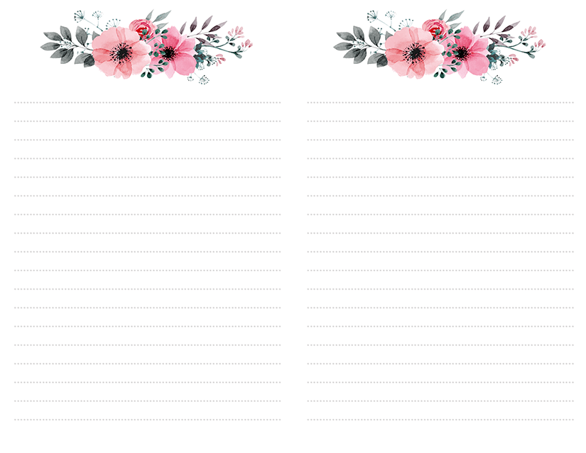 This is a picture of Free Stationary Printable regarding note