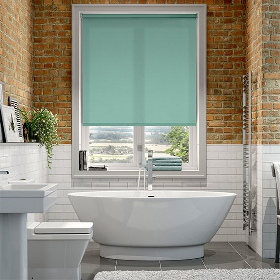 Turquoise Roller Blinds Easy Home Decorating Ideas