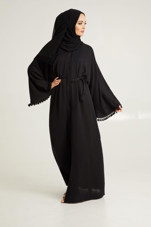 2f4e641eff Tassel Batwing Open Jacket Abaya Abaya Fashion