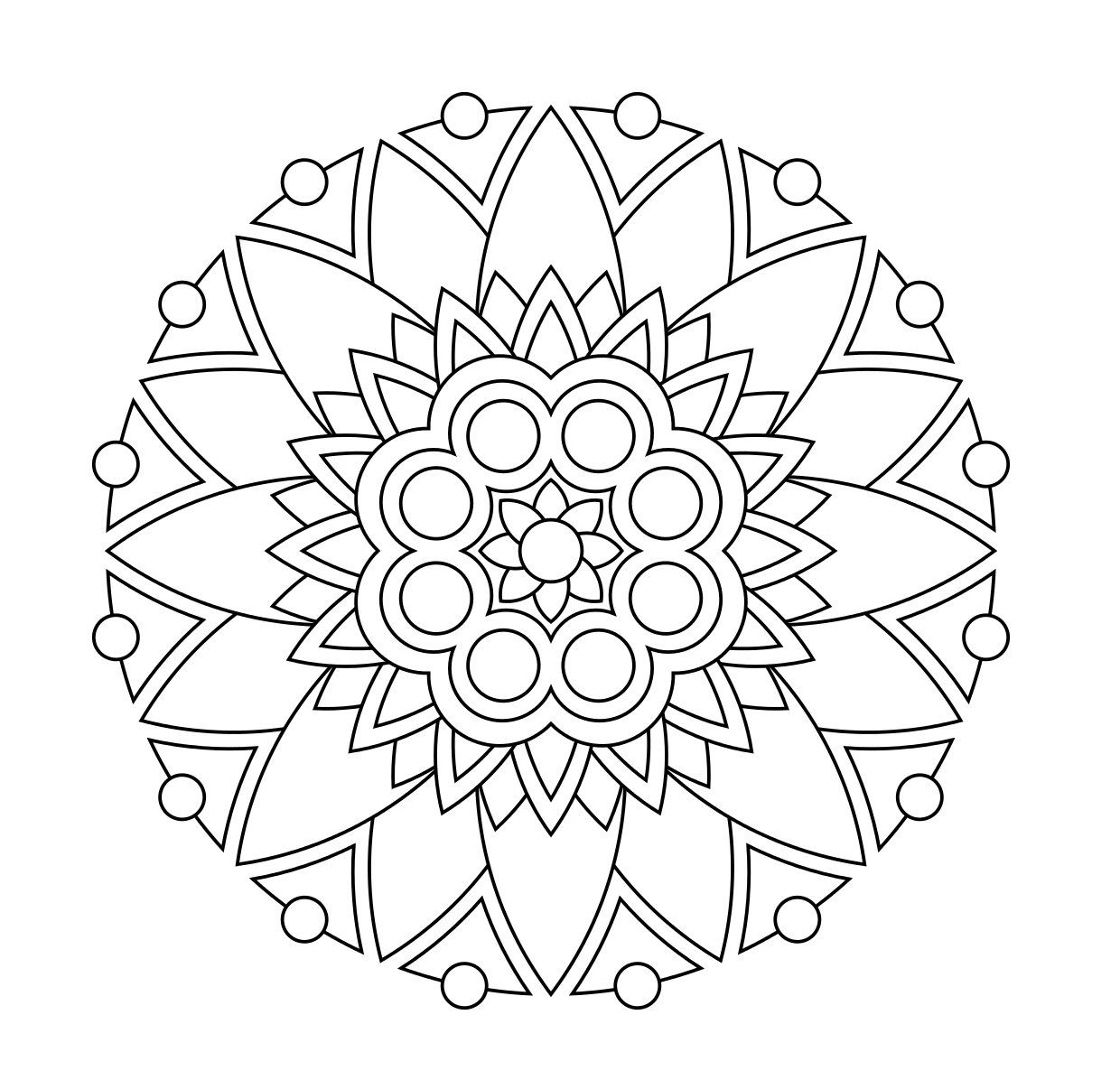 Coloring book adult meditation stress - More Printable Coloring Mandalas For Stress Relief