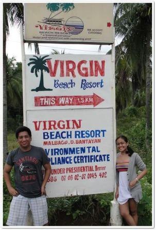 Road Sign For Virgin Beach Resort Cebu