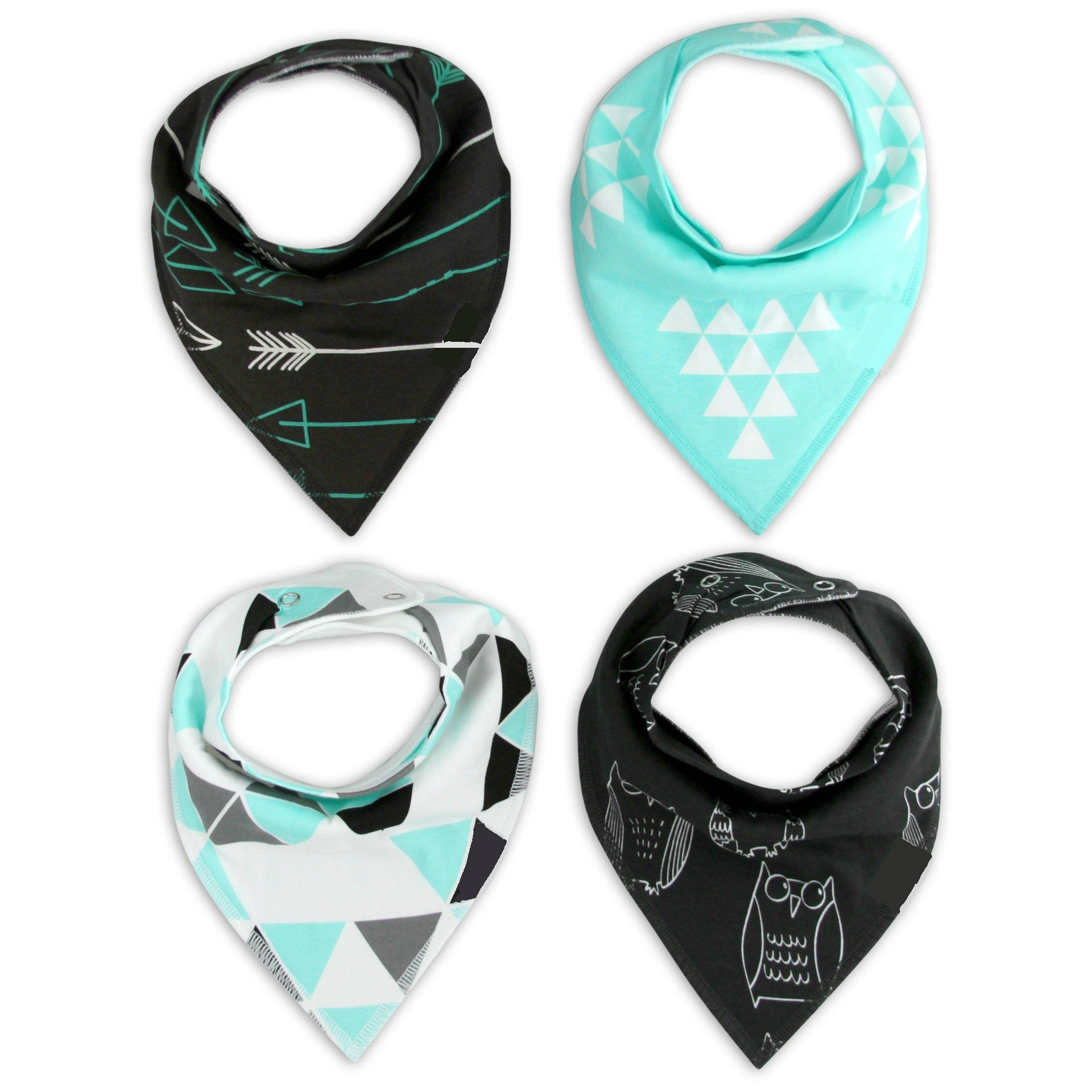 Jspoir Melodiz Absorbent Cotton Baby Bandana Bibs For Boys And Girls Pack Of 4 -- Awesome products selected by Anna Churchill