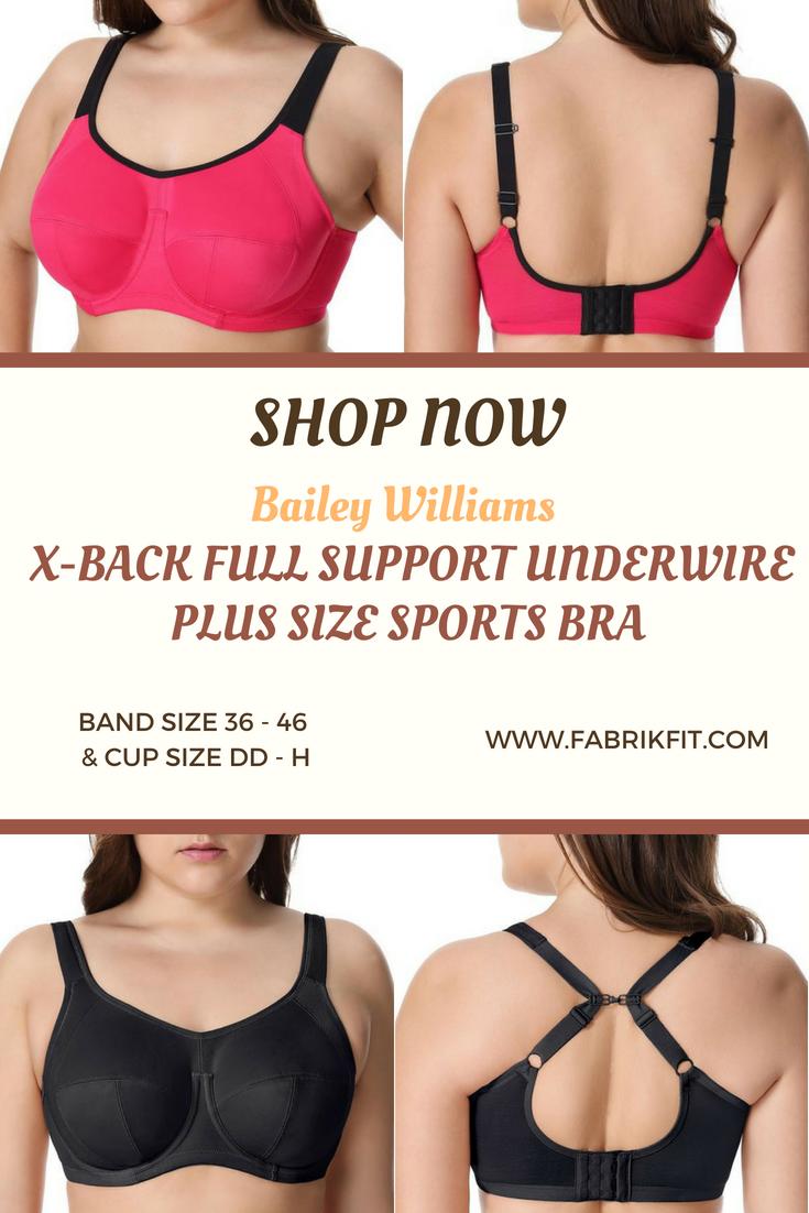 cdb4d23f9e9e2 Bailey Williams X-back Full Support Underwire Plus Size Sports Bra ...