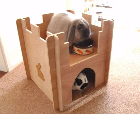 Wooden Rabbit Castle Playground Tunnel Shelter Wooden Rabbit Christmas Gifts For Pets Rabbit Pen