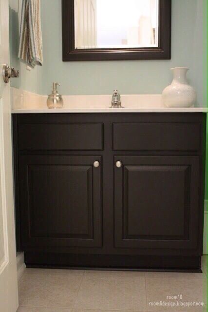 Behr Stealth Jet With Images Painted Vanity Bathroom