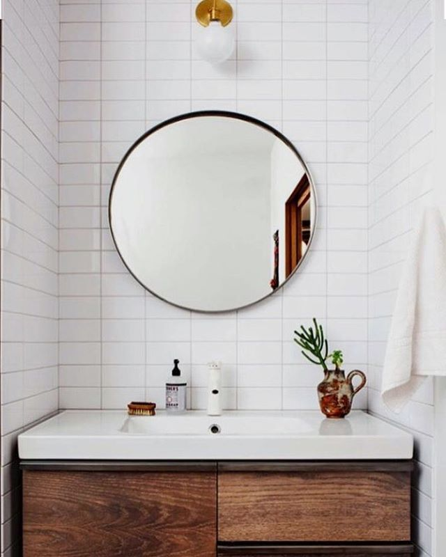 So pretty decent for an IKEA mirror, sink, and vanity (which was ...