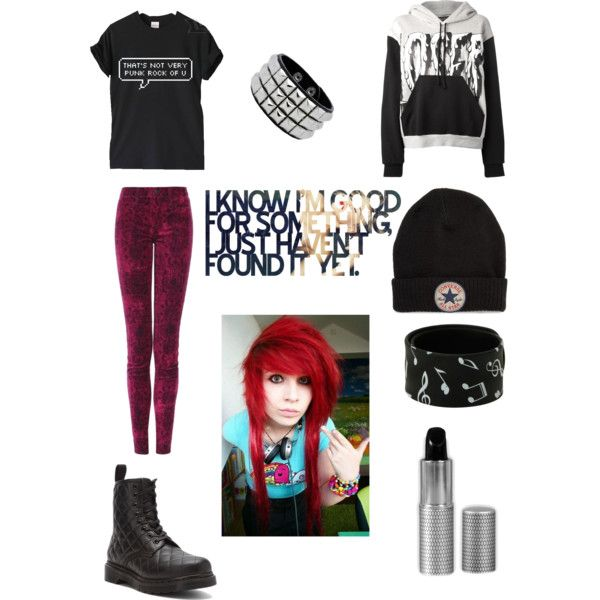 I Know I'm Good For Something I Just Haven't Found It Yet by gerardwayssass on Polyvore featuring polyvore, fashion, style, Daniel Palillo, J Brand, Dr. Martens and Converse