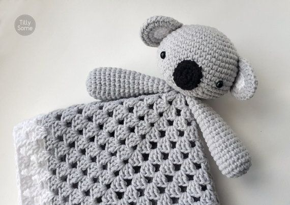 Koala Bear Lovey Pattern | Security Blanket | Crochet Lovey | Baby ...