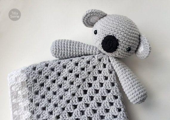 Koala Bear Lovey Pattern | Security Blanket | Crochet Lovey | Baby ...