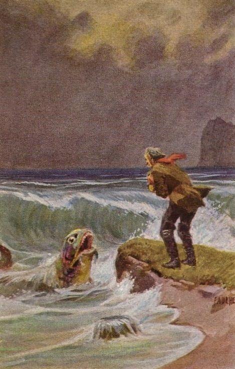 Vom fischer und seiner frau illustration zu grimms for Grafiker munchen