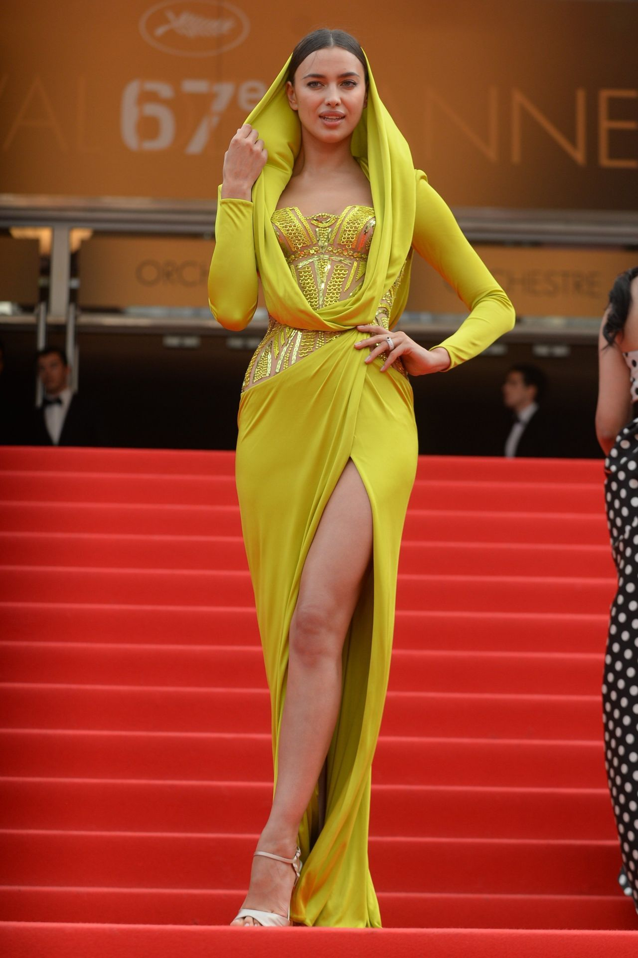 5753bbe2f839 Irina Shayk in Atelier Versace at the 2014 Cannes Film Festival   My ...