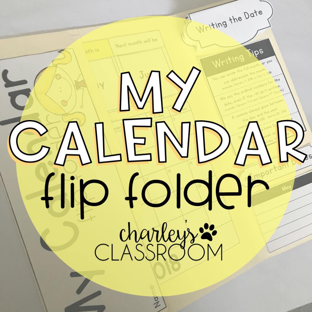 My Calendar Flip Folder
