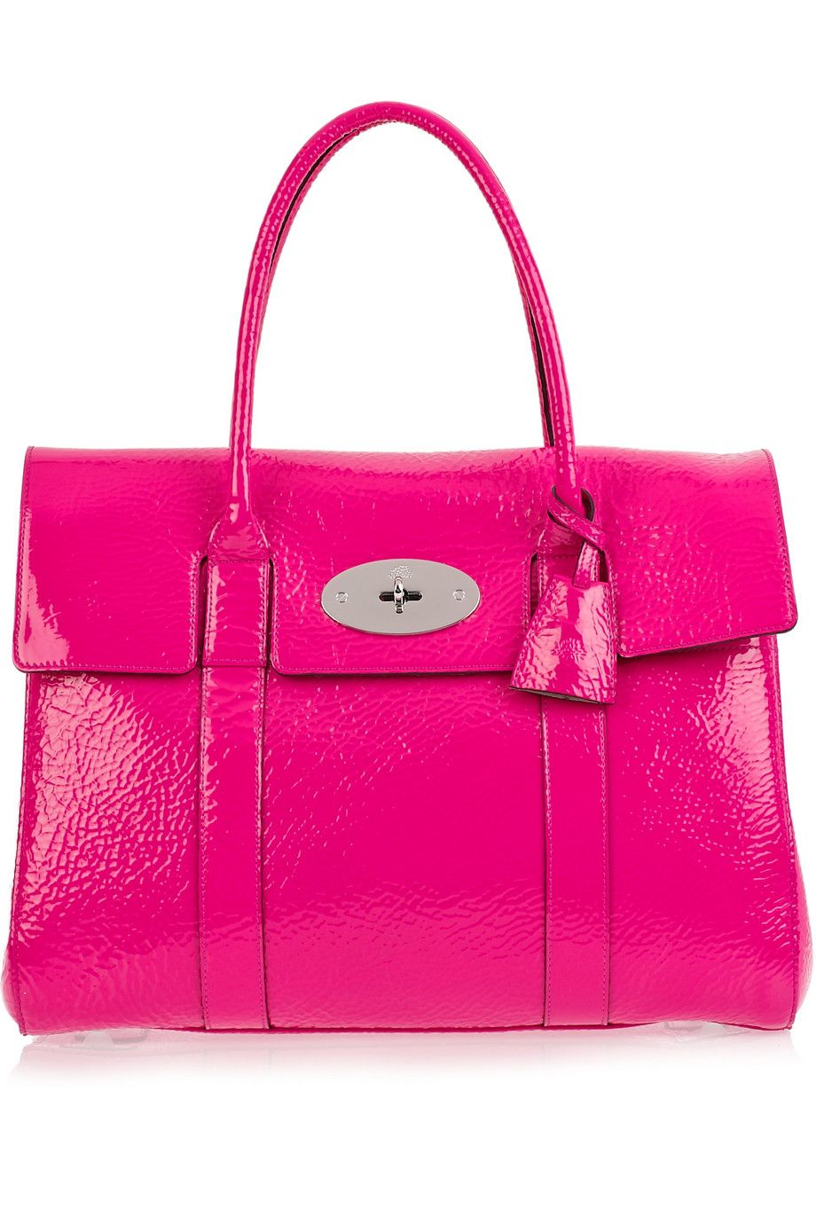 ab5ffffda8 Hot pink Mulberry Bayswater patent-leather bag £766 | Pink | Pink ...