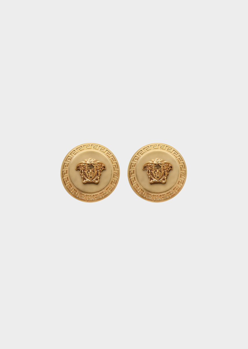2b60da5e9 Tribute Medusa Stud Earrings from Versace Women's Collection. Medusa studs  Greek Key details make any look stand out. All Versace Jewelry products are  lead ...
